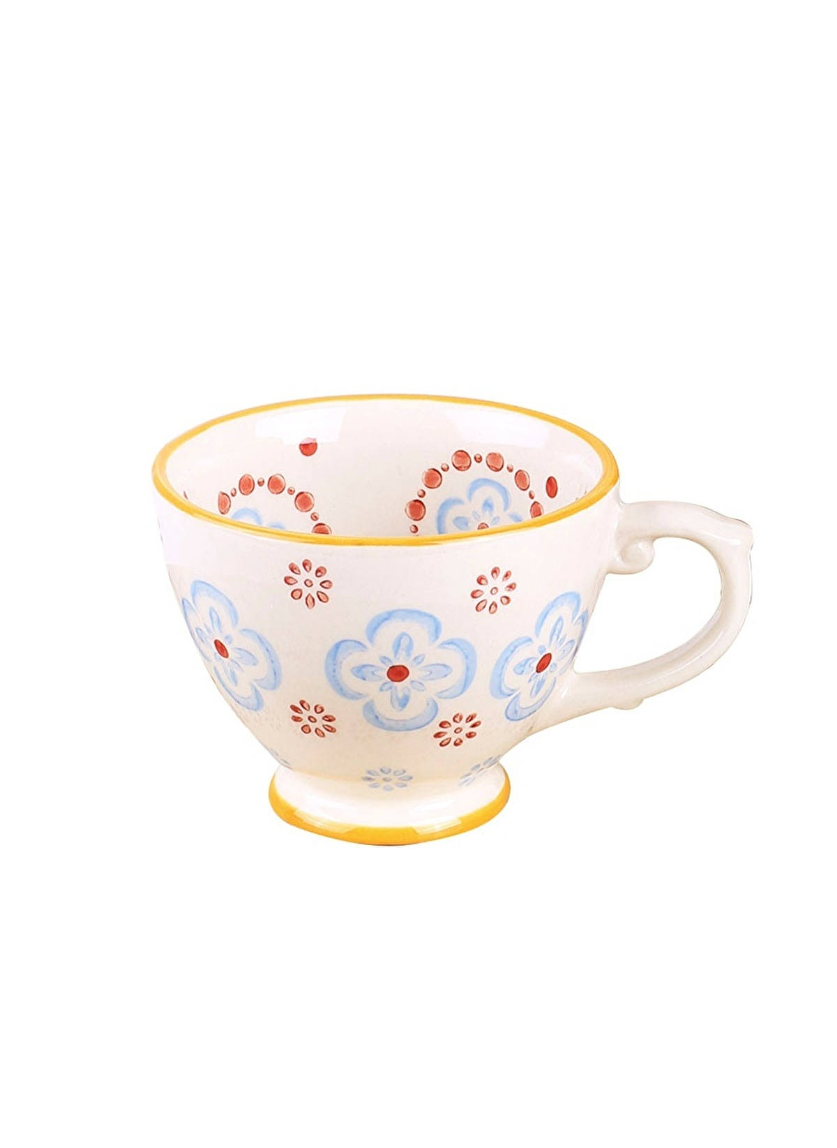 Thanx Co Standart Cinnamon El Boyama Kahve Fincanı Renkli Morhipo